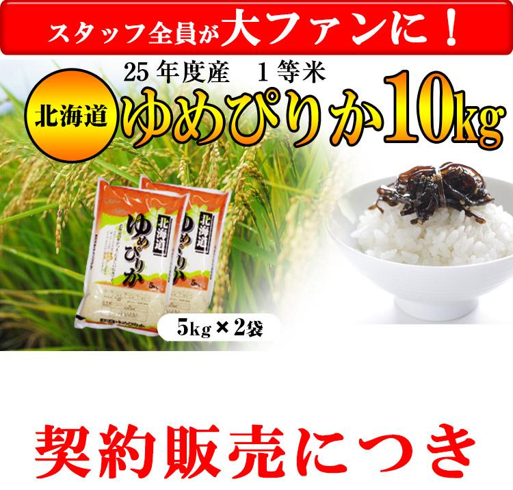 北海道 白米 1等米 ゆめぴりか 平成25年度