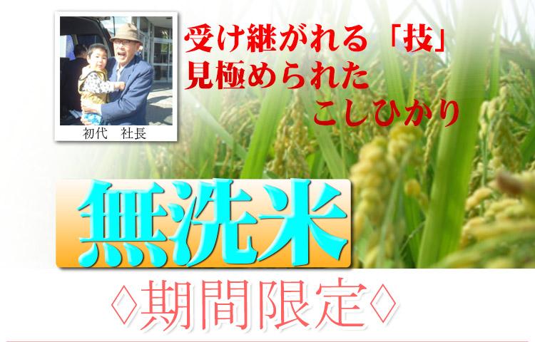 富山県 無洗米 こしひかり 10kg 平成25年度