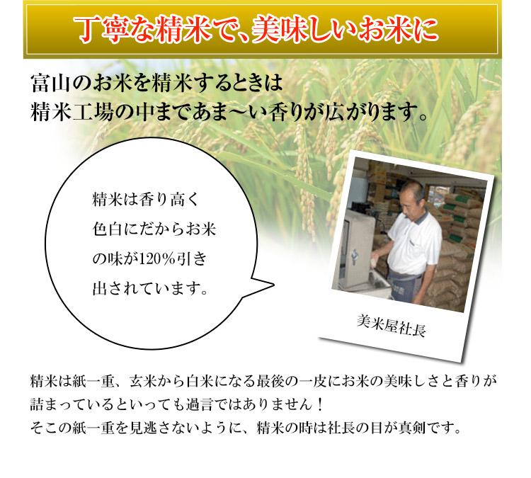富山県 無洗米 こしひかり 内容量5kg 平成25年度